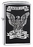 Zippo High polish Chrome Eagle Lighter (Silver, 5 1/2x3 1/3-Cm)