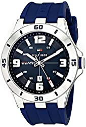 Tommy Hilfiger Men's 1791062 Stainless Steel Watch with Blue Silicone Band