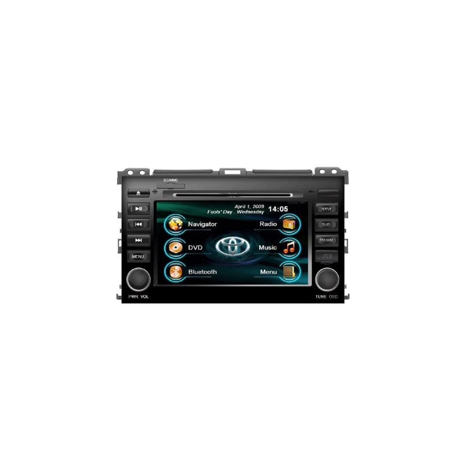 7 Digital LCD Car GPS iPod DVD Player for Toyota Prado