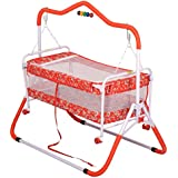 Jubilant Lifestyle Compact Multipurpose 2 In One Baby Cradle Cum Stroller With Mosquito Net (RED)