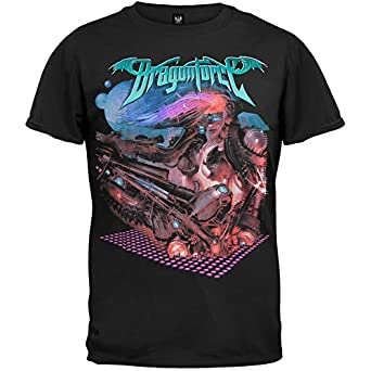 Old Glory - Dragonforce - Mens Planets 09 Tour T-shirt X-Large Black
