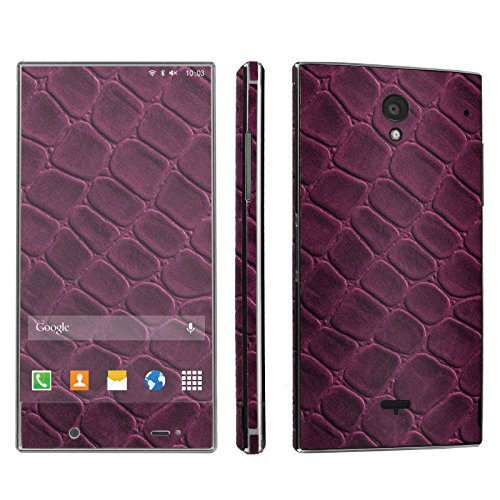 Sharp Aquos Crystal Phone Skin - [SkinGuardz] Full Body Scratch Proof Vinyl Decal Sticker with [WallPaper] - [Red Wine Leather] for Sharp Aquos Crystal (Sharp Aquos Leather compare prices)
