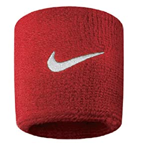 NIKE Swoosh Red Wristbands, Red