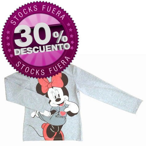 Camiseta-Minnie-Disney-gris