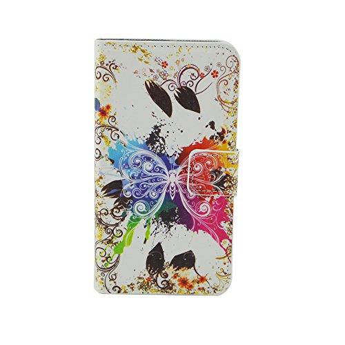 Cozy Hut Custodia Samsung J5, Galaxy J5 Cover, Samsung Galaxy J5 Flip Cover, Disegno di Stampa Disegno della Farfalla di stile del Libro Portafoglio Custodia in PU Cuoio, Elegant Flip Protettivo Wallet Caso Copertina con Funzione di Supporto per Samsung Galaxy J5 - farfalla sogno