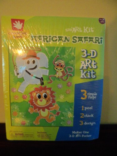 African Safari 3-D Art Kit - 1