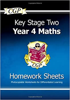 KS2 Maths Homework Sheets - Year 4: Amazon.co.uk: CGP Books ...