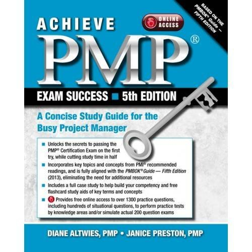 Achieve PMP Exam Success, 5th Edition: A Concise Study Guide for the Busy Project Manager (Diane Preston compare prices)