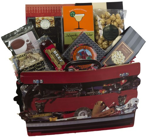 Handyman's Toolbox of Treats Gift Tote - Gourmet Food & Snack Gift Basket - Great Gift for Him!
