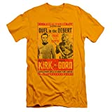 Star Trek Mens Duel In The Desert Slim Fit T-shirt Gold