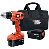 Black & Decker GCO18SB-2 18-Volt NiCad 3/8-Inch Cordless Drill/Driver with 2 Batteries and Storage Bag