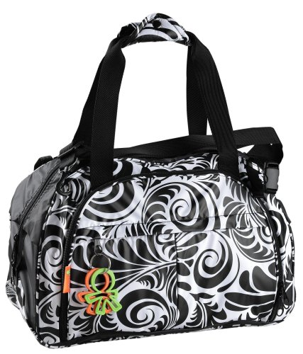 Okiedog Equinox Shuttle Luxury Travel Baby Changing Bag (Black/White)