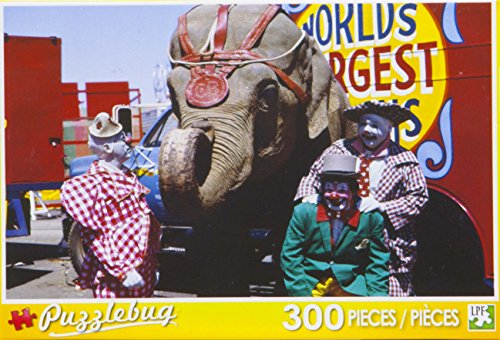 Puzzlebug 300 Piece Puzzle ~ Three Circus Clowns and Elephant - 1
