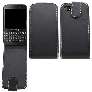 SAMRICK - Blackberry Q5 - Specially Designed Leather Flip Case - Black