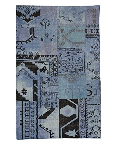 F.J. Kashanian Rugs One-of-a-Kind Patchwork Rug, Light Blue, 5' x 8'
