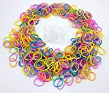 Loom Rubber Bands - 3600 pc Rubber Band Refill Mega Value Pack With S Clips, Dotted Pastel Colors, 300 Each of Pink, Light Green, Black & White, Light Blue, Purple, Orange and Yellow