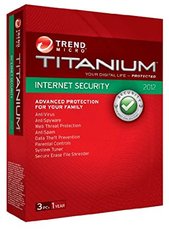 Trend Micro Titanium Internet Security 2012, 3 User, 1 Year Subscription (PC)
