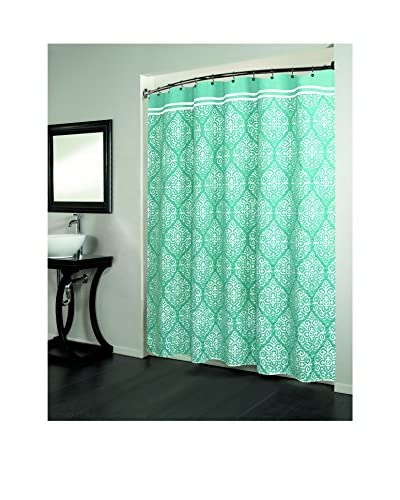 Beatrice Home Fashions Montrose Shower Curtain, Teal