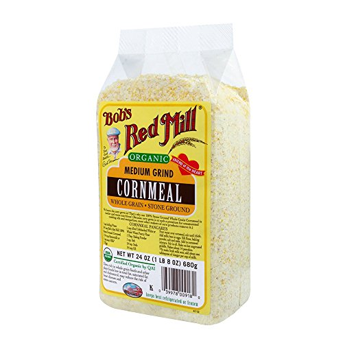 Bob's Red Mill Organic Cornmeal Medium, 24-Ounce (Pack of 4) (Corn Meal Bulk compare prices)