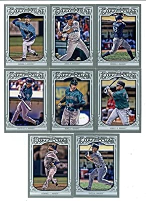 Seattle Mariners 2013 Topps Gypsy Queen Baseball Complete Mint 8 Basic Card Team Set with Ken Griffey Jr., Felix Hernandez and Others