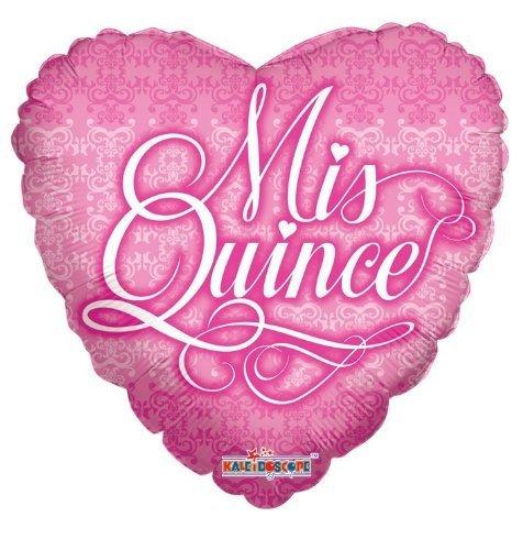 Kaleidoscope Miss Quince Heart Foil Mylar Balloons, 5 Piece - 1