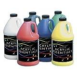 Chroma Acrylic Essential Set, 1/2 Gallon Jugs, Assorted Primary Colors, Set of 6 - 59001 (Color: Assorted Primary Colors, Tamaño: 1/2 Gallon Jugs)