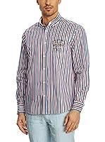 Galvanni Camisa Hombre Sevona (Azul Oscuro / Rojo Oscuro / Crudo)