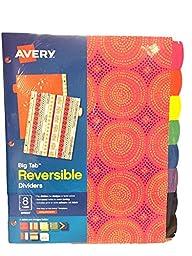 Avery Big Tab Reversible Dividers 8-tab 24924 - Bold Colors (1 Set of 8 Dividers)