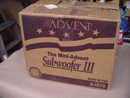 The Mini Advent Subwoofer Iii Passive Home Theatre Speaker