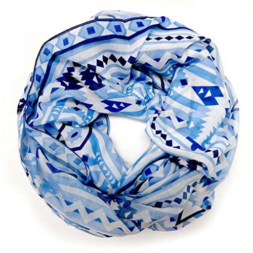 accessu-Echarpe-Foulard-pour-Femme-modern-Ethno-Design-bluewhite