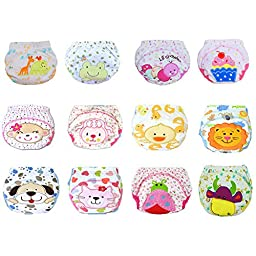 DAYAN 5 Pack Baby Girl Boy Pee Potty Training Pants Diaper Nappy