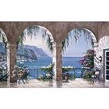 (99x164) Sung Kim Mediterranean Arch Huge Wall Mural Art
