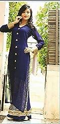 Diya Women's Blue Georgette Designer Dress Materials [DS_JCN1086_B]