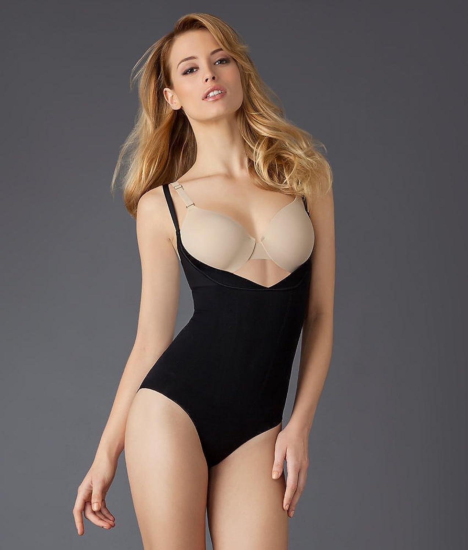Spanx Slimmer and Shine Open Bust Black Bodysuit 1060 kaufen