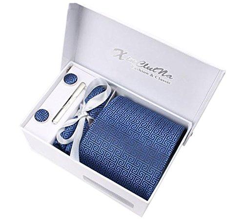 Uomo cravatta, fazzoletto, stickpins e gemelli pacco regalo (051)