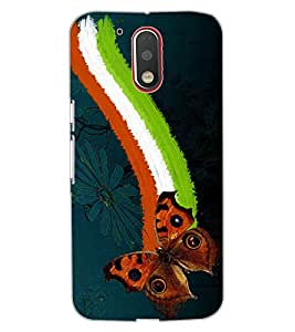 ColourCraft Beautiful Butterfly Design Back Case Cover for MOTOROLA MOTO G4