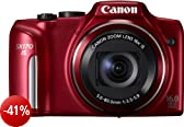 Canon PowerShot SX170 IS RED Fotocamera Digitale 16 Megapixel, Rosso