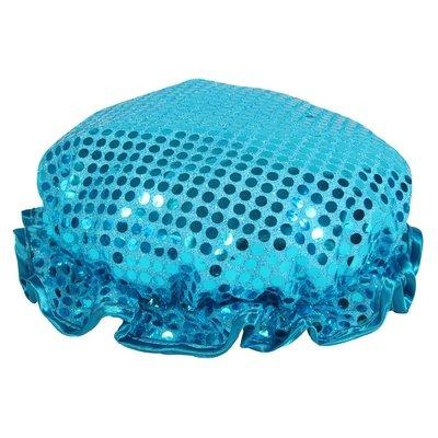 Turquoise Sparkling Sequin Shower Cap