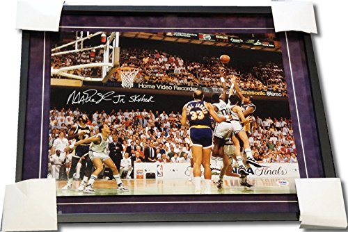 Magic Johnson Hand Signed Auto 16X20 Photo Custom Suede Frame Sky Hook Psa/Dna front-699971