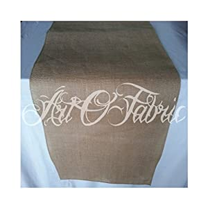 Artofabric burlap table runner 12 inches x for 102 inch table runners