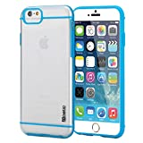 "iPhone 6 Plus Case - Poetic Apple iPhone 6 Plus Case [Atmosphere Series] - Slim-Fit Transparent Hybrid Case for Apple iPhone 6 Plus (5.5"") Clear/Light Blue (3-Year Manufacturer Warranty from Poetic)"