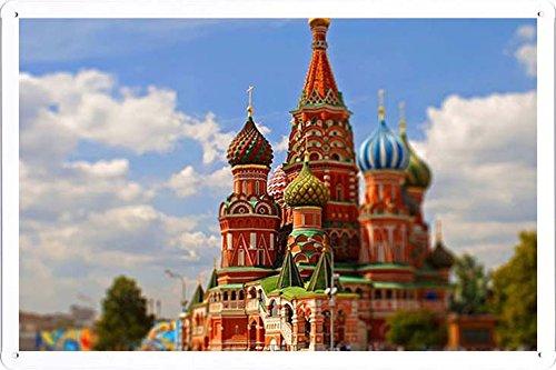 ARMVAS DÉCOR Metall plakat poster Blechschild Wandschild 20x30cm - Moskau Russland Kreml 85.112
