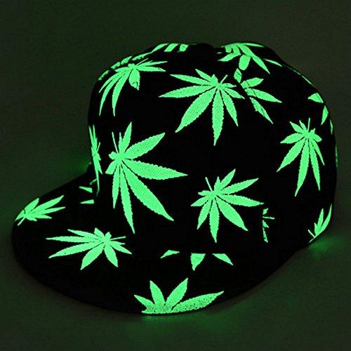 Luminous-Snapback-Baseball-Cap-Glow-In-The-Dark-Cap-Night-Glow-Hip-hop-Rasta-Weed-Leaf-Pot-Flat-Bill-Baseball-Hat