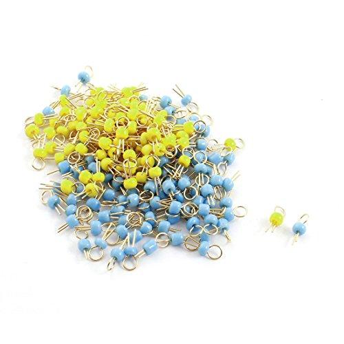 sourcingmapr-200-pz-blu-giallo-ceramica-perlina-color-oro-circuito-stampato-test-pin-terminali