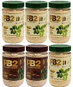 Bell Plantation PB2 Bundle: 4 Peanut Butter and 2 Chocolate Peanut Butter, 1 lb Jar... by PB2