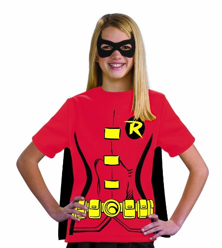 Justice League Child's Female Robin 100% Cotton T-Shirt - Medium
