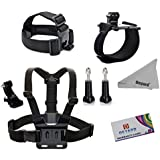 Deyard ZG-633 GoPro Accessories Kit Set Of 3 For GoPro Hero 1 2 3 &3+ 4: Head Strap Mount + Chest Harness + Wrist...