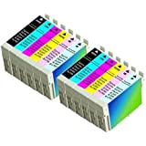 12PK Epson T078(2PK-T0781 2PK-T0782 2PK-T0783 2PK-T0784 2PK-T0785 2PK-T0786) Replacement Ink Cartridges for
