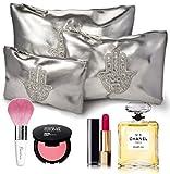 Kosmetiktasche für handtasche. Kosmetiktaschenset damen 3 Teilig. Kosmetik Make- up