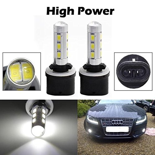 Partsam 2pcs Xenon White 880 892 893 899 High Power LED Replacement Bulbs for Fog Driving Light Daytime Running Bulbs DRL Parking Light 12-5730-SMD Led (Toyota Corolla 2002 Fog Lights compare prices)